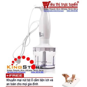 Máy xay cầm tay đa năng Sokany HB230A - Tặng kèm 9 nút bịt ổ cắmtiện ích & an toàn cho mọi gia đình (Đại siêu thị Việt Nam)
