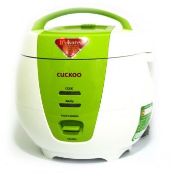 Nồi cơm điện Cuckoo CR-0661 1L (Trắng phối xanh cốm) - Hàng nhậpkhẩu