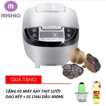 Nồi làm tỏi đa năng Mishio 1.8L + Tặng máy xay thịt lưỡi dao kép + 01 chai dầu 400ml