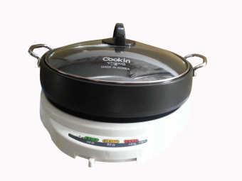 Nồi lẩu và nướng điện Cookin KEP-105 (Trắng phối đen) - Hàng nhậpkhẩu