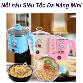 Nồi Nấu Điện Siêu Tốc Đa Năng Mini + Khay Luộc Trứng