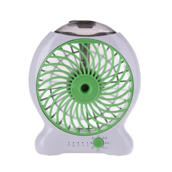 Portable Mini USB Fan Humidifier Handheld Air Cooler Rechargeable(Green) - intl