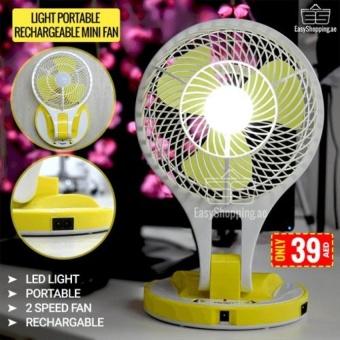 Quạt tích điện có đèn LED MINI FAN M-5580