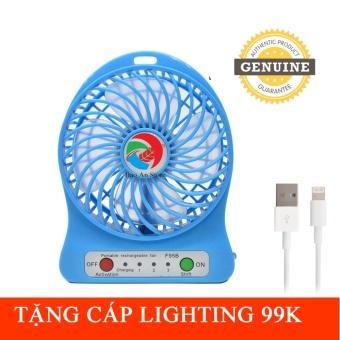 Quạt tích điện siêu mát F95B xanh tặng cáp lighting trị giá 99k - 8483175 , OE680HAAA4VGVDVNAMZ-8981518 , 224_OE680HAAA4VGVDVNAMZ-8981518 , 49999 , Quat-tich-dien-sieu-mat-F95B-xanh-tang-cap-lighting-tri-gia-99k-224_OE680HAAA4VGVDVNAMZ-8981518 , lazada.vn , Quạt tích điện siêu mát F95B xanh tặng cáp lighting trị gi