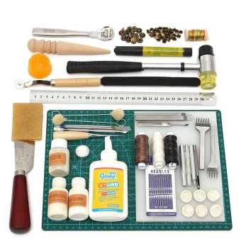 Tools Leather Craft Tool Kit Leather Hand Sewing Tool SetProfessional Product - intl