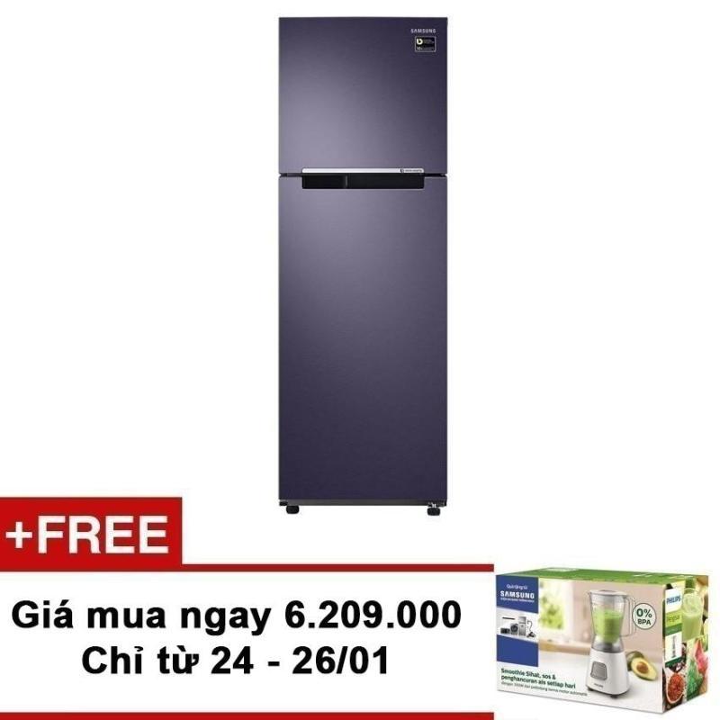 Tủ lạnh 2 cửa Samsung RT25M4033UT/SV 256 lít (Xám) + Tặng Máy xay sinh tố Philips HR2051/00 trị giá 600.000VNĐ