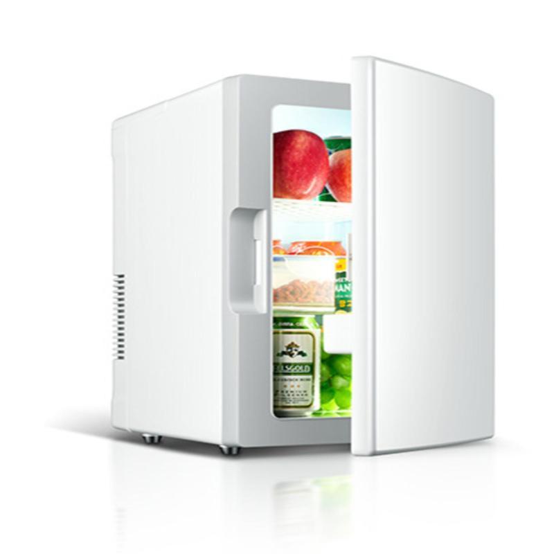 Tủ lạnh mini di động 18L gia đình và trên xe hơi - màu sữa (Bạc)