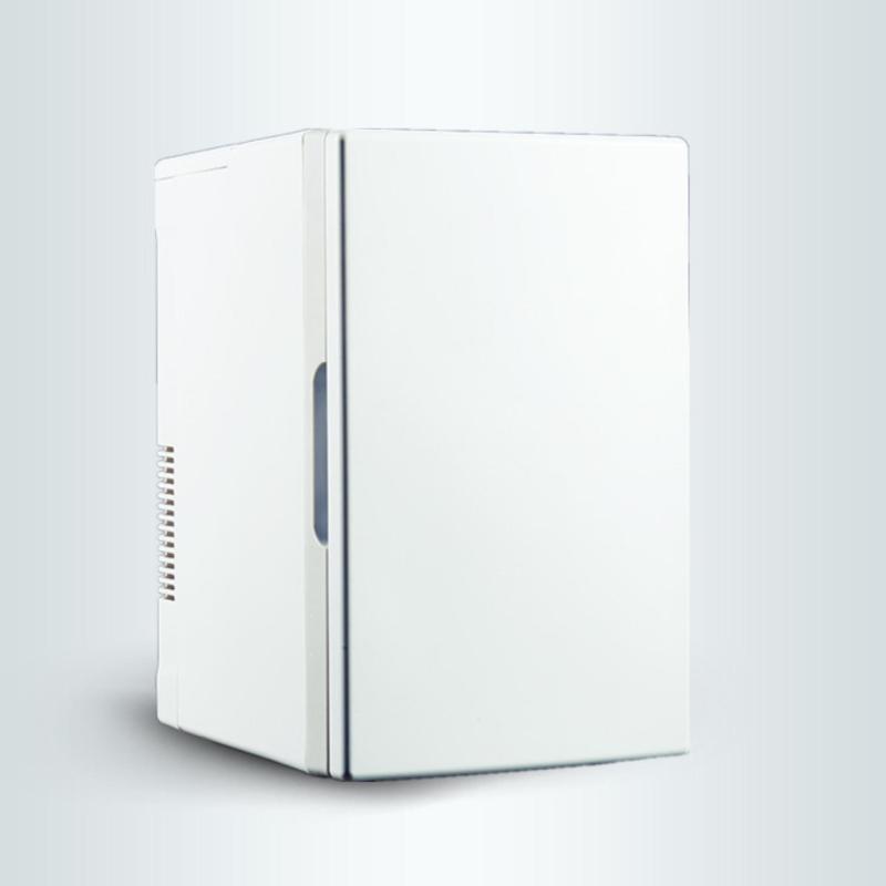 Tủ lạnh mini di động 18L gia đình và trên xe hơi nguồn 12V và 220V-(Bạc)