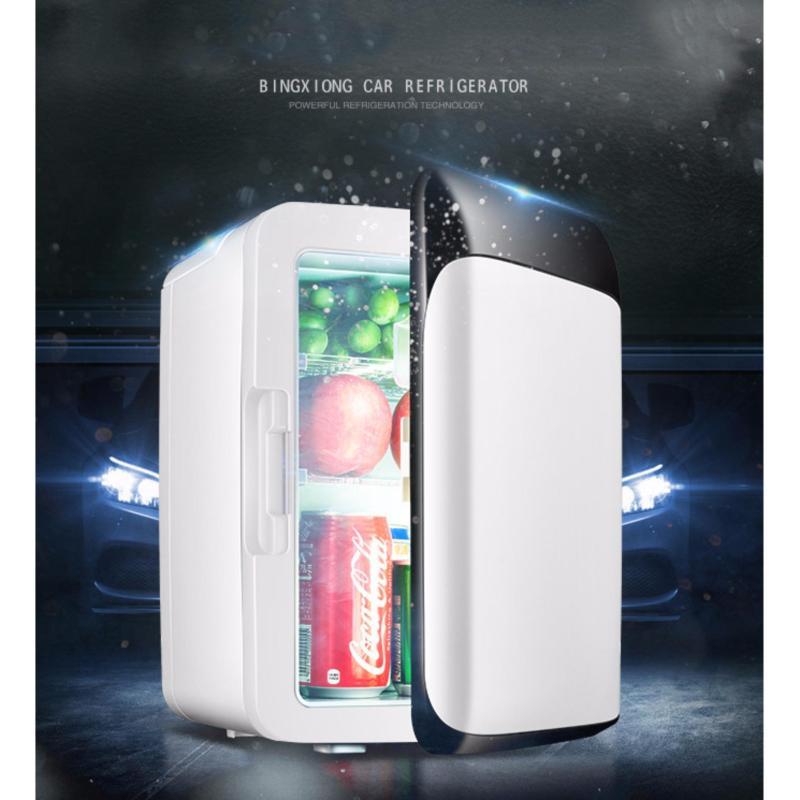 Tủ lạnh mini hộ gia đình và trên xe hơi 10L nguồn 12V và 220V(Bạc)