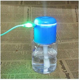 USB Portable Mini Water Bottle Caps Humidifier Air Cap Diffuse Mistand Purify - intl
