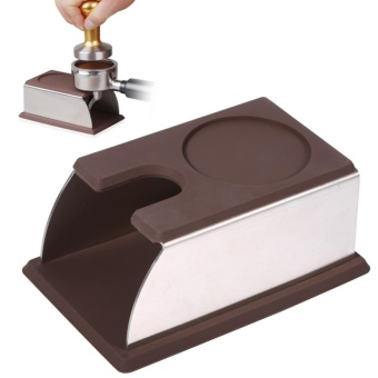 YOSOO-Stainless Steel Coffee Tamper Stand Rack+Silicone (Coffee) -intl