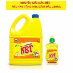 Đánh Giá [1 tặng 1] Nước Rửa Chén đậm đặc Net 4kg tặng NRC 250g