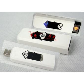 Bật lửa sạc điện qua cổng USB Đầu châm thuốc lá không có ngọn lửa (màu trắng)