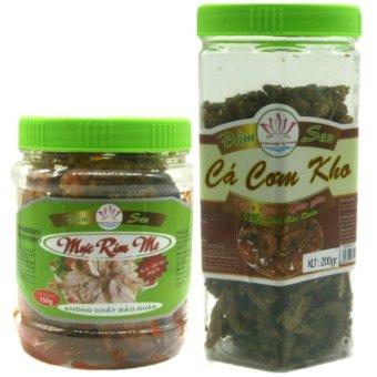Bộ 02 món mực rim me đặc sản Phan Thiết (150g) + cá cơm kho ăn liền (200g )