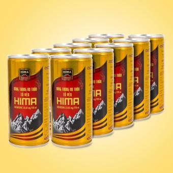 Bộ 10 Lon Nước uống Đông trùng hạ thảo Tổ Yến Hima (170ml/lon)