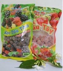 Địa Chỉ Bán Bộ 2 gói kẹo dâu tây và dâu tằm Đà Lạt loại 200g