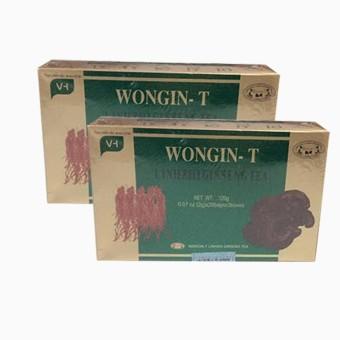 Bộ 2 Hộp Trà Sâm Linh Chi Wongin-T hộp 120g ( 60gói x 2g )
