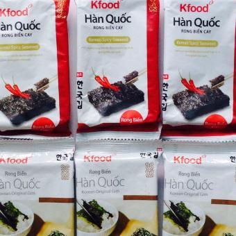 Bộ 2 Snack Rong Biển Cay Và Không Cay Hàn Quốc, Ăn Chay Được