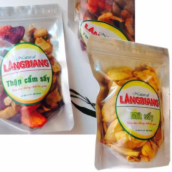 Bộ 2, trái cấy Thập Cẩm Sấy(500gr) -Mít Sấy Giòn(200gr) ,hương vị tự nhiên
