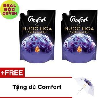 Bộ 2 túi nước xả Comfort hương Bella 1.6L + Tặng dù