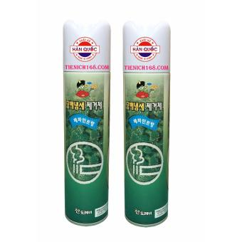 Bộ 2Nước hoa xịt phòng Sandokkaebi Khử Mùi Thuốc Lá 370ML Hương BạcHà TI773