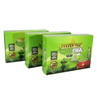 Bộ 3 hộp 8 gói Matcha trà sữa 3in1 Golden Tea 136g
