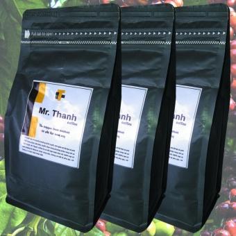 Bộ 3 túi cà phê hạt rang xay cao cấp Mr. Thanh Coffee nguyên chất 100% Arabica,Robusta- loại 250g