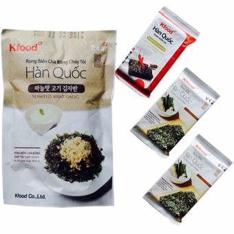 Bộ 4, Gói Rong Biển Chà Bông Và Snack Rong Biển Hàn Quốc - Món Ăn Vặt Nhiều Dinh Dưỡng Tốt Cho Sức Khỏe