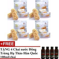 Bộ 4 Túi Bánh Yến Mạch 400g/túi Hàn Quốc + TẶNG 4 Chai Nước Đông Trùng Hạ Thảo Hàn Quốc 100ml/chai