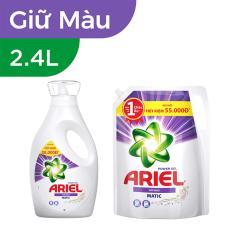 Bộ nước giặt Ariel Matic Color gel đậm đặc 2.4kg (Dạng chai) và nước giặt Ariel Matic Color gel đậm đặc 2.4kg (Dạng túi)