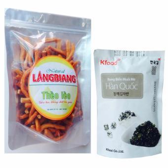 Bộ Snach Thèo Lèo cay giòn (250gr)và snack rong biển mè Hàn Quốc