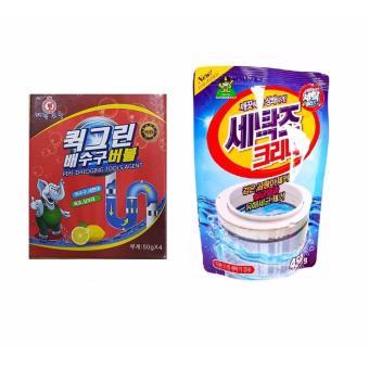 Bộ Túi Bột Tẩy Vệ Sinh Lồng Máy Giặt Hàn Quốc 450g + Túi Bột Thông Tắc Toilet Siêu Mạnh Hàn Quốc 100g - 8353900 , NO007WNAA39WWYVNAMZ-5742230 , 224_NO007WNAA39WWYVNAMZ-5742230 , 119000 , Bo-Tui-Bot-Tay-Ve-Sinh-Long-May-Giat-Han-Quoc-450g-Tui-Bot-Thong-Tac-Toilet-Sieu-Manh-Han-Quoc-100g-224_NO007WNAA39WWYVNAMZ-5742230 , lazada.vn , Bộ Túi Bột Tẩy Vệ Sin
