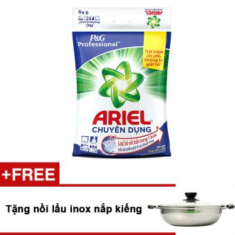 Bột giặt Ariel 9kg + Tặng nồi lẩu inox nắp kiếng  tiết kiệm