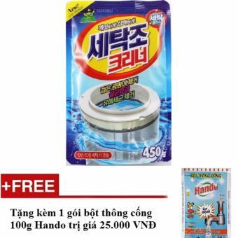 Bột tẩy vệ sinh lồng máy giặt 450g + Tặng kèm 1 gói bột thông cốngnội địa Hando 100g HH576 - 8173432 , HA280WNAA2SJ9AVNAMZ-4800197 , 224_HA280WNAA2SJ9AVNAMZ-4800197 , 130000 , Bot-tay-ve-sinh-long-may-giat-450g-Tang-kem-1-goi-bot-thong-congnoi-dia-Hando-100g-HH576-224_HA280WNAA2SJ9AVNAMZ-4800197 , lazada.vn , Bột tẩy vệ sinh lồng máy giặt 45