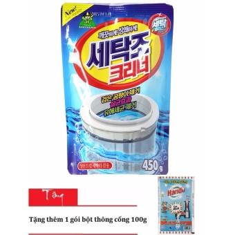 Bột tẩy vệ sinh lồng máy giặt Korea Sandokkaepi 450g tặng 1 gói bộtthông cống 100g HH3H