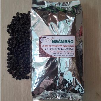 Cà phê hạt rang nguyên chất Ngân Bảo 1kg(Hạt Robusta,Arabica,Culi)-NPP HS shop