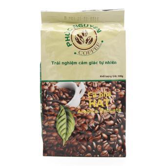 Cà phê Nguyên chất 100% Hạt Arabica & Robusta - Phúc Nguyên -500g