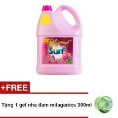 Chỗ nào bán Chai nước giặt Surf cỏ hoa diệu kì 3.8kg + Tặng 1 gel nha đam milaganics 300ml