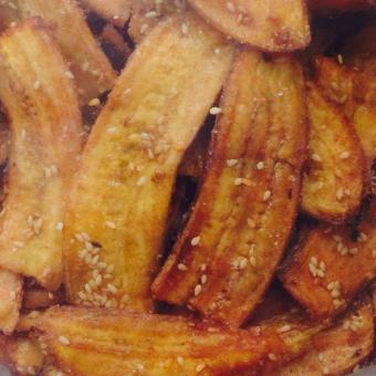 Chuối sấy có mè giòn (500gr), thơm ngon,nhiều dinh dưỡng