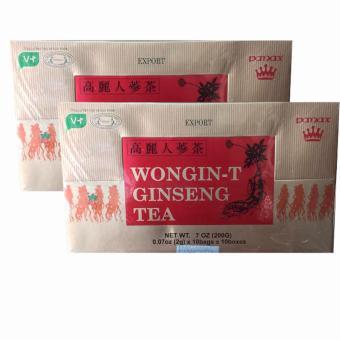 Combo 2 Hộp Trà Nhân Sâm Wongin – T Ginseng Tea 200g ( 2g x 100 gói)