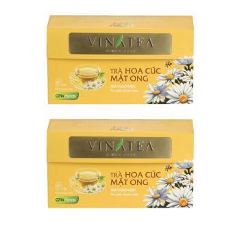 Combo 2 hộp trà Vinatea hoa cúc mật ong túi lọc