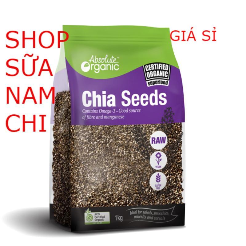 Nơi bán Hạt Chia Absolute Organic Chia Seeds 1KG TÍM (Cam kết hàng Úc)