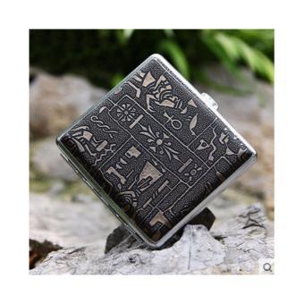 Hộp đựng thuốc lá 20 điếu họa tiết Ai Cập siêu sang F235 (Nâu)