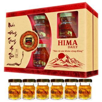 Hộp quà 6 Lọ Nước uống Đông Trùng Hạ Thảo Hima Daily (70ml/lọ)