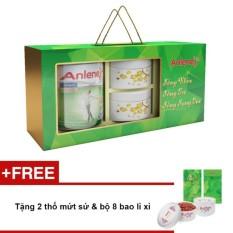 Hộp quà tết 2 lon Anlene Gold MOVEPRO™ hương Vani 800g + TẶNG 2 thố mứt sứ & bộ 8 bao lì xì