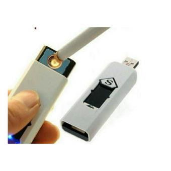 Hộp quẹt (bật lửa) không dùng gas, có chân sạc để sạc điện hình chữ S (nhiều màu) E-F1