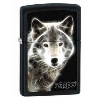 Hộp Quẹt (Bật Lửa )White Wolf with Logo Zippo Lighter Auto-fun