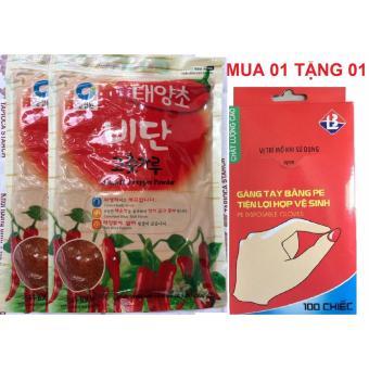 Mua 02 Gói Ớt Bột Hàn Quốc Nhập Khẩu 500G/gói Tặng Ngay 100 ChiếcGăng Tay Nilon Tiện Lợi