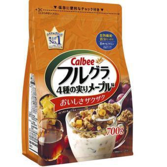 Ngũ cốc Calbee Nhật Bản (khoai lang, hạt óc chó, mâm xôi, nho) hàng mới