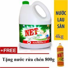 Bảng Báo Giá Nước lau sàn NET Extra/Bạc Hà Diệt khuẩn can 4kg tặng nước rửa chén Net 800g đậm đặc